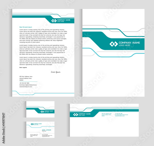Layout template size a4 cover page business card and letter green layout template size a4 cover page business card and letter green line sharp abstract accmission Gallery