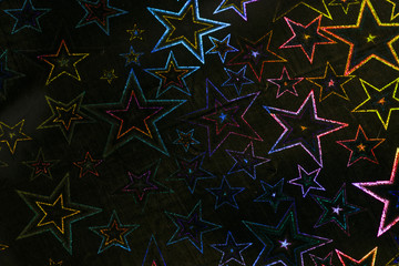 Holographic Stars on Black Background