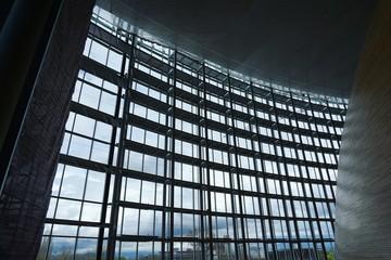 futuristische Architektur, Europa Parlament Straßburg, Frankreich