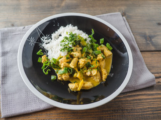 Delicious turkey mango curry