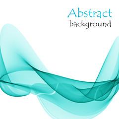 Abstract background with turquoise waves