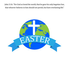 Easter Jesus. Vector illustration. World Easter Concept.