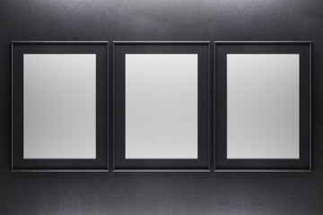 Three blank frames