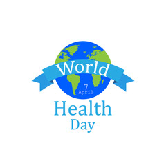 World health day concept with earth globe. Vector illustration.