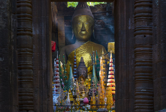 Vat Phou or Wat Phu temple is the UNESCO world heritage site in Southern Laos