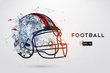 American Football Helmet in black. Vector illustration