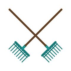 rake agriculture tool image vector illustration eps 10