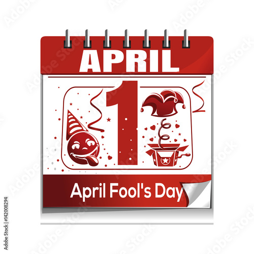 Calendar April Fools Day : Quot calendar with the date of st april fool s day