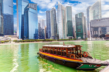 Keuken foto achterwand Singapore Singapore Business District on the Marina Bay