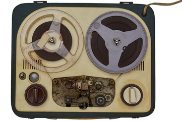 vintage analog recorder, isolated