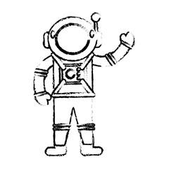 astronaut suit spaceman sketch vector illustration eps 10