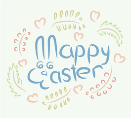 Happy Easter Bunny spring symbolic inscription vector