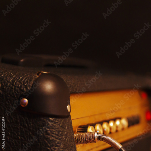 """""""Amplifier For Electric Guitar With Inserted Input Jack On"""