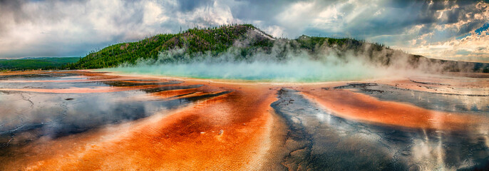 Prismatic Spring at Yellowstone National Park Wall mural