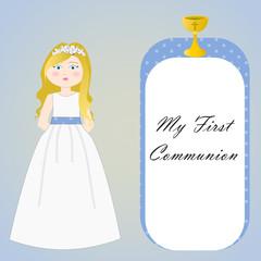 tarjeta para primera comunión