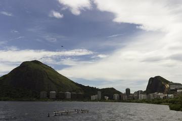 Vista da Lagoa Rodrigo de Freitas no Rio de Janeiro