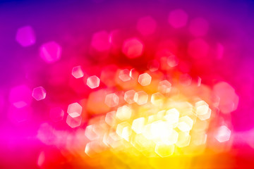glitter Spectrum lights color, soft blur bokeh defocused, color filter for abstract background