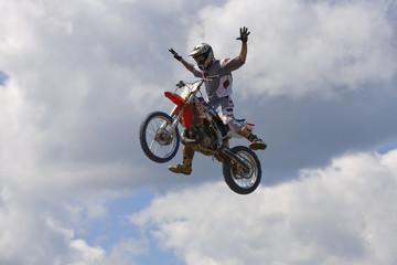 Stunt Biker. Free stile performing