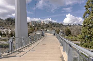 Pedestrian overpass in Portland Oregon.