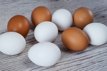 Eggs on background