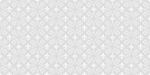 Vector seamless pattern. Grey and white color. Design wallpaper, decoration pattern repeating, pattern for graphic design. Modern stylish texture