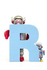 big letter R