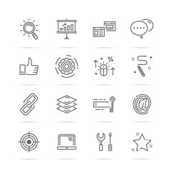 seo vetor line icons