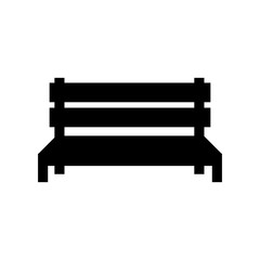 Street Benches silhouette icon isolated on white background