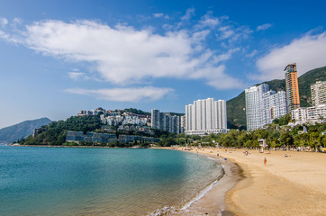 Aluminium Prints Asian Famous Place The sunny day at Repulse Bay, the famous public beach in Hong Kong