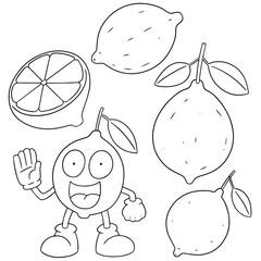 vector set of lemon