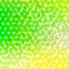 Vector illustration of bright shiny spring abstract background  - green and yellow spring and summer colors