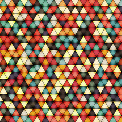 Vector illustration of bright shiny triangle background