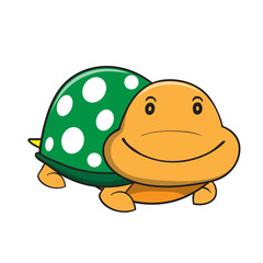Vector illustrations turtle cartoon on a white background.