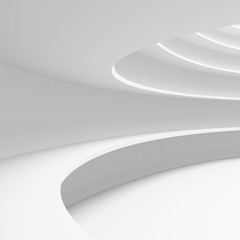 Architecture Circular Background. Abstract Building Design