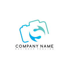 camera photography brand company template logo logotype