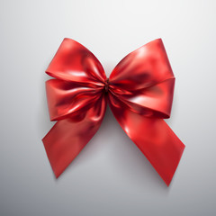 Red Bow And Ribbons.