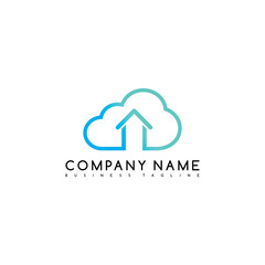 cloud chat home brand company template logo logotype vector art