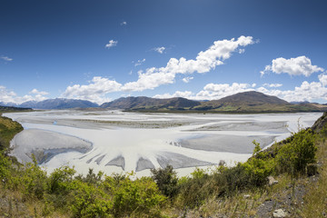 beautiful landscape in the south part of New Zealand
