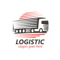 Logistic Logo Template. (vector)