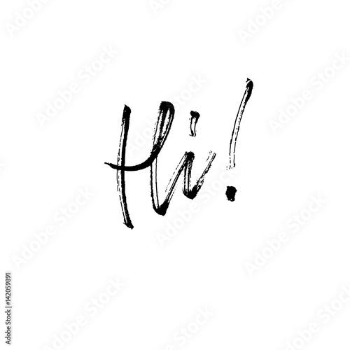 Hi Modern Brush Calligraphy Fichier Vectoriel Libre De