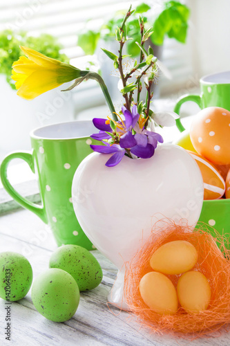 ostern dekoration blumen stock photo and royalty free images on pic 142064833. Black Bedroom Furniture Sets. Home Design Ideas