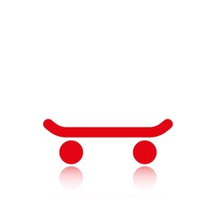 skateboard side view icon stock vector illustration flat design