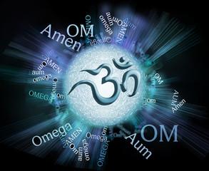 Om, Aum, Amen, sign letters