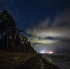 over the Gulf of Finland, Leningrad oblast, Russia