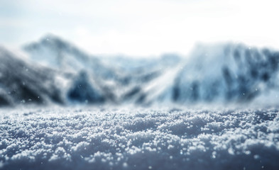 Winter snow ice Background