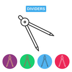 The divider icon. Surveyor and geometry, engineer, architect, sc