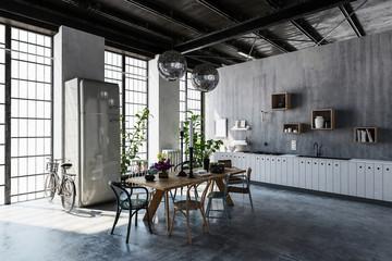 Spacious modern apartment interior