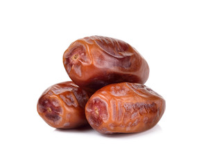 Date fruit isolated on the white background