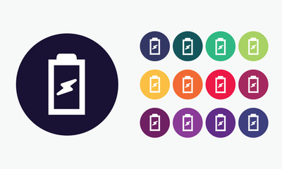 Battery icon. Colorful vector.