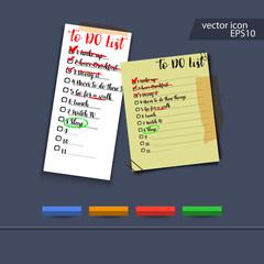 Hand writing To Do blank List